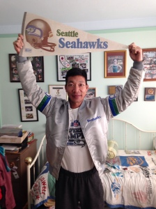 A lifelong Seahawks fan!